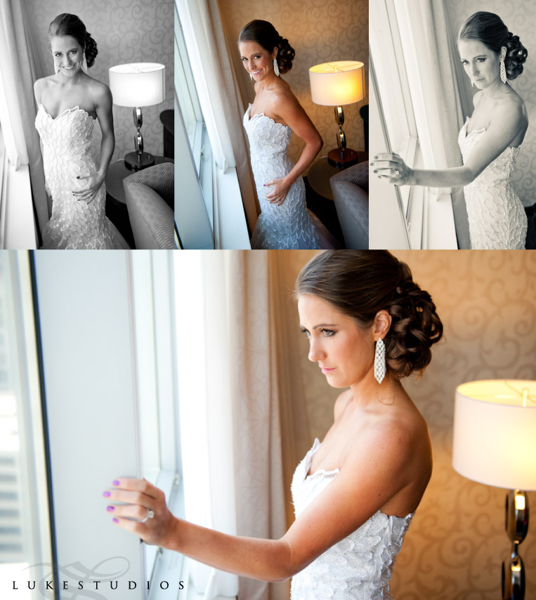 Beautiful bridal portraits in the window.