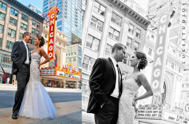 Chicago Theater wedding pictures