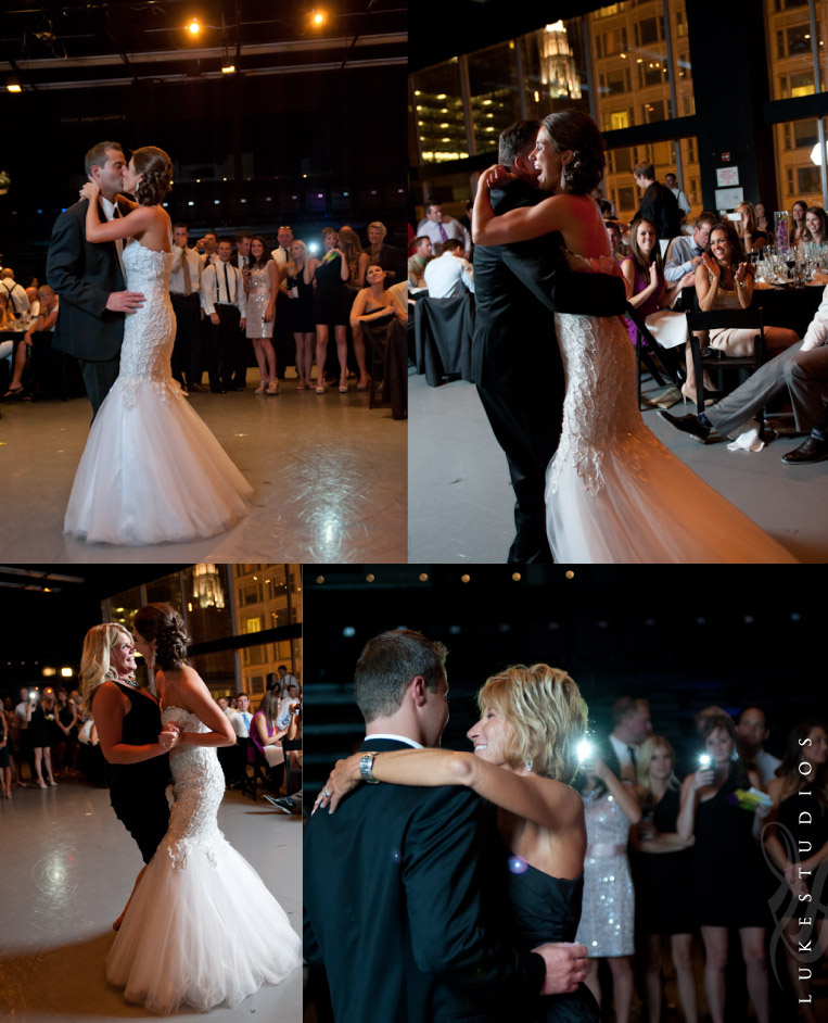 Photos fo the first dance and the dance with parents at the reception.